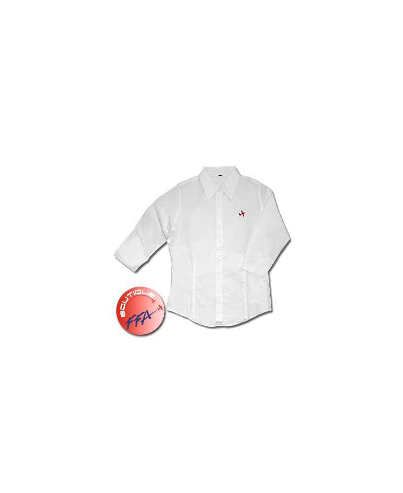 Chemisier avion rouge F.F.A. brodé - Taille XL