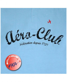 """Polo F.F.A. """"Aéro-Club"""" Homme - Taille XL"""