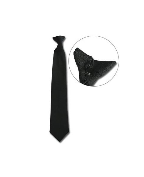 Cravate noire à clip