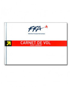 Lot Carnet de vol Avion F.F.A. - couverture rigide et Coverlog'Aéro Médium cuir - Aviation Passion