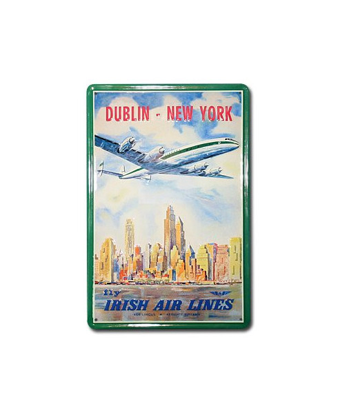 Plaque décorative en relief Fly Irish Air Lines (20 x 30 cm)