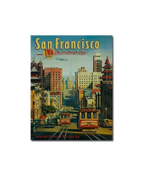 Plaque décorative San Francisco - T.W.A. - The Lindbergh Line