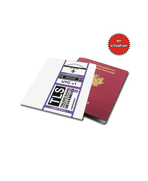 """Protège-passeport """"bag-tag Toulouse"""" Air France"""