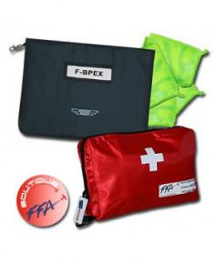 Trousse de premiers secours F.F.A. et Protège-documents Aircraft avec gilets de sécurité - Aviation Passion