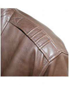 Blouson cuir marron Mermoz F01 - Taille L