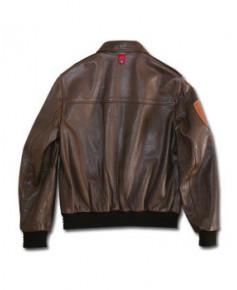 Blouson cuir marron Mermoz F01 - Taille M