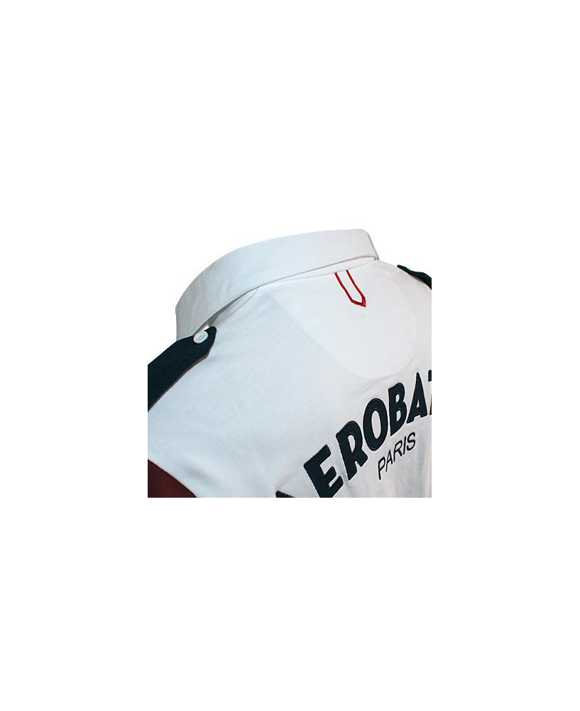 Polo blanc manches longues JET - Taille L