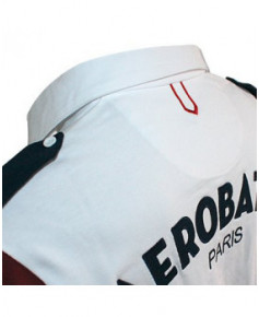 Polo blanc manches longues JET - Taille S
