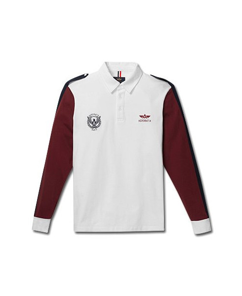 Polo blanc manches longues JET - Taille XXL