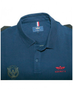Polo marine manches longues JET - Taille S