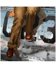 Affiche Pin-Up au décolleté - Signée - Romain HUGAULT - 30 x 40 cm