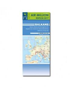 Carte 2017 1/1 000 000e V.F.R. Balkans - Air Million