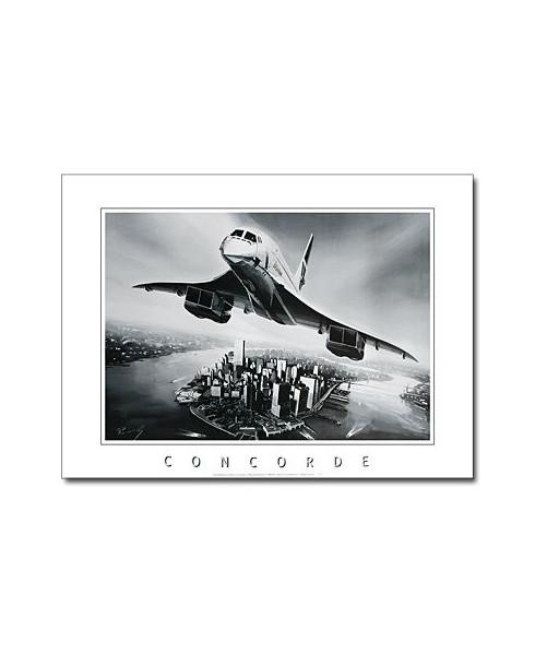 Poster noir et blanc Concorde Manhattan