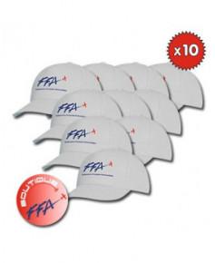 Lot de 10 Casquettes F.F.A. classiques