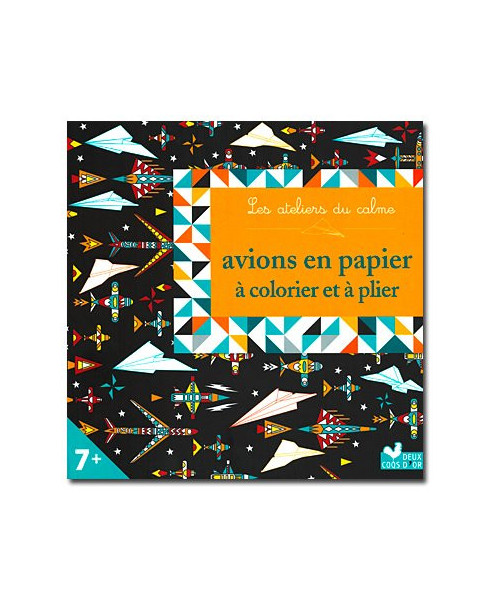 Avions en papier à colorier et plier