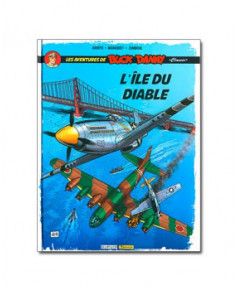 Les aventures de Buck Danny - Tome 4 : L'île du diable - Coffret contenant dix petits ex-libris
