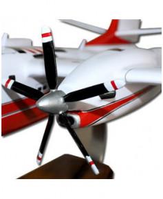 Maquette bois Tracker S-2T Turbo Firecat Sécurité Civile T07