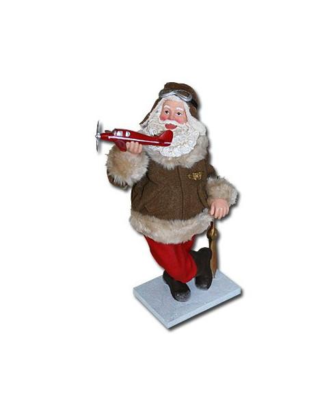 Figurine Père-Noël Aviateur