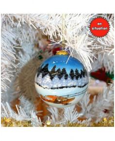 Décoration de Noël - Boule peinte à la main