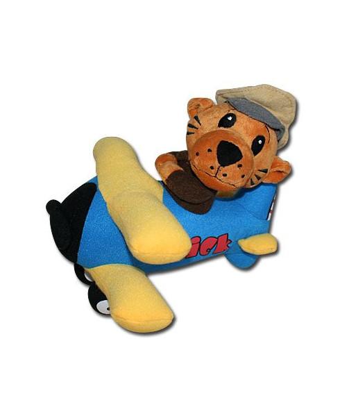 Peluche Tigre aviateur dans son avion