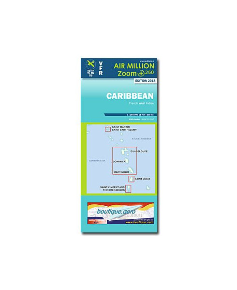 Carte 2018 1/250 000e Caribbean - Air Million Zoom