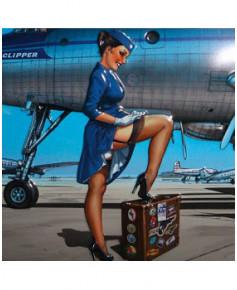 Plaque décorative en relief Pan Am - Romain HUGAULT (41 x 29 cm)