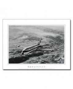 Poster noir et blanc Caravelle United