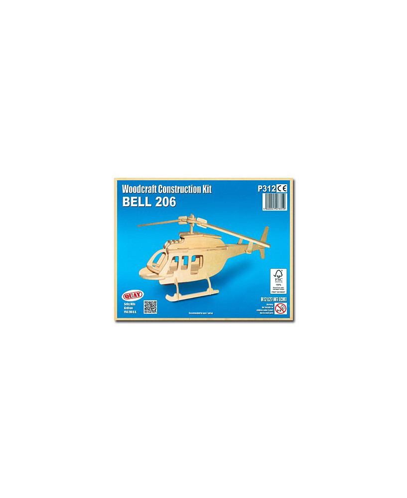 Petit hélicoptère en bois à monter - Bell 206