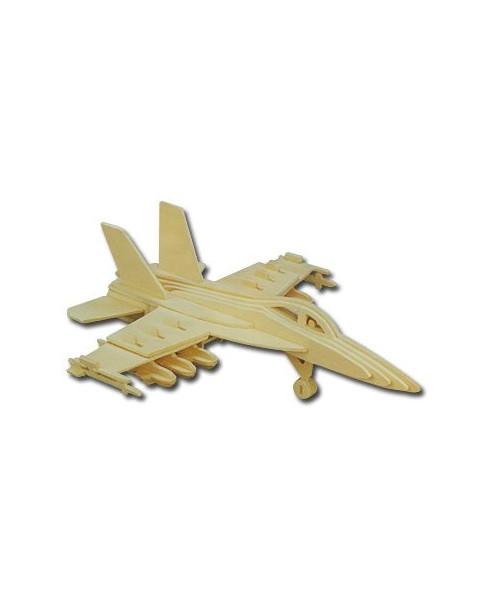 Petit avion en bois à monter - F18