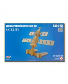 Petit avion en bois à monter - Satellite