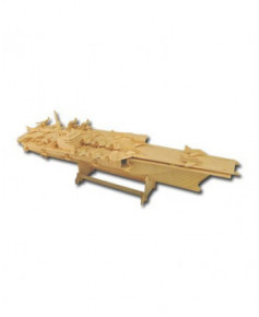Porte-avions en bois à monter