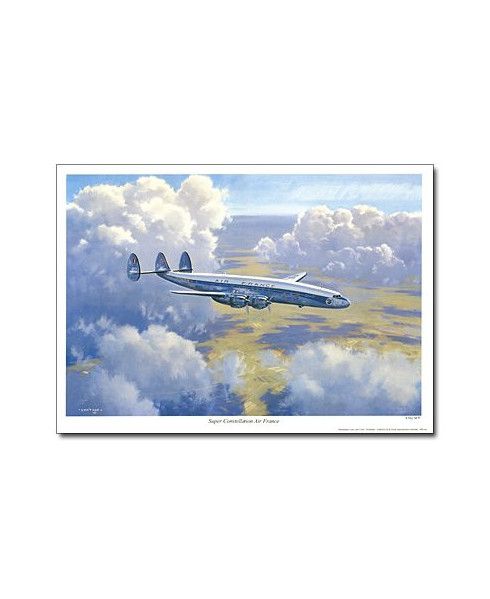 Poster Super Constellation Air France