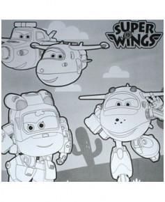 Super Wings - 3 mètres de coloriage