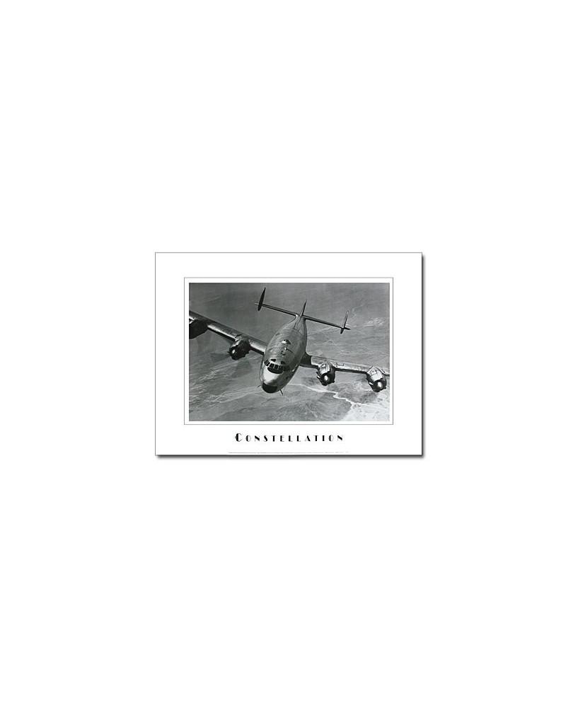 Poster noir et blanc Constellation