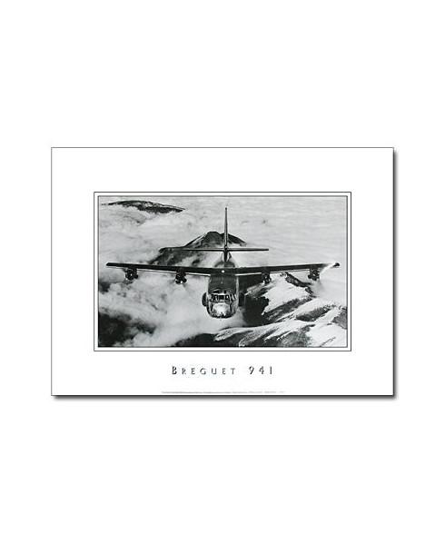 Poster noir et blanc Breguet 941