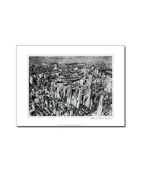 Poster noir et blanc DC3 T.W.A. Manhattan