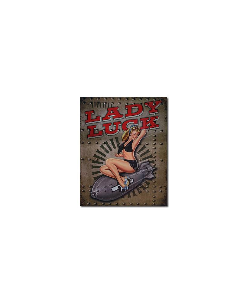 Plaque métal Legends - Lady Luck
