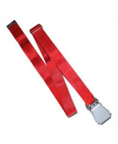 Ceinture de sécurité avion rouge