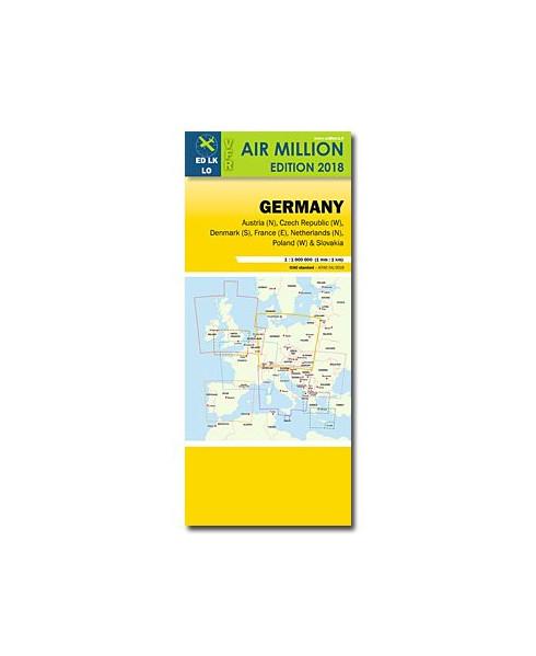 Carte 2018 1/1 000 000e V.F.R. Allemagne - Air Million