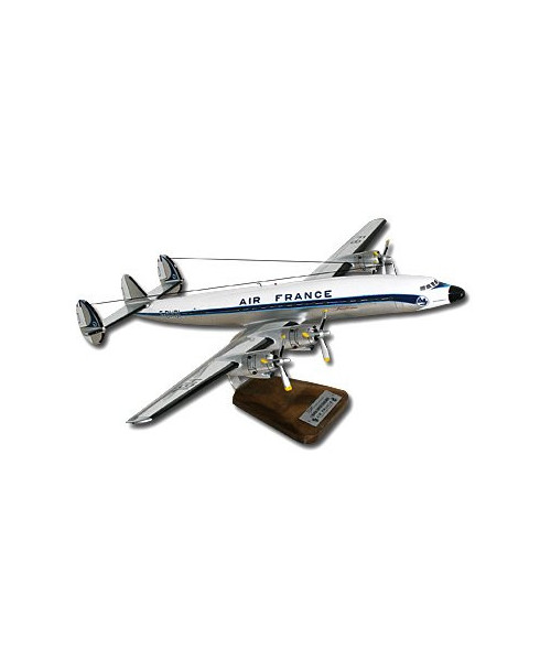 """Maquette bois Lockheed L-1649A Super Starliner Air France F-BHBL """"Rochambeau"""" - 1/72e"""