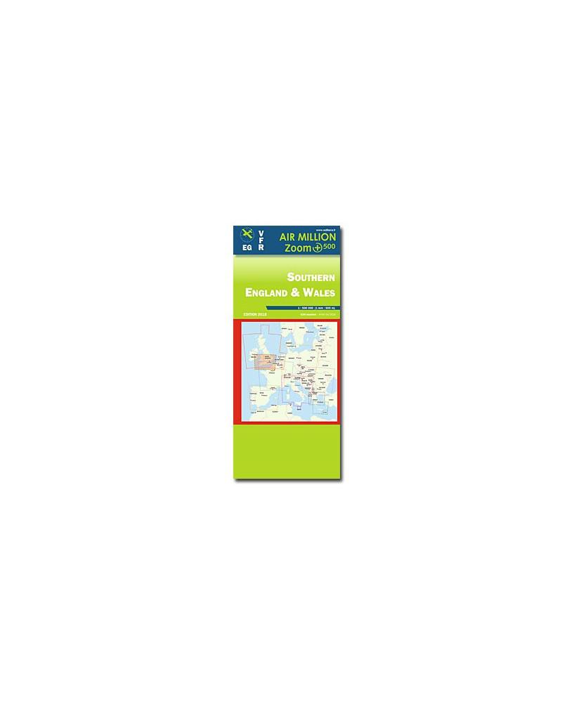 Carte 2018 1/500 000e V.F.R. Royaume-Uni - Sud - Air Million Zoom