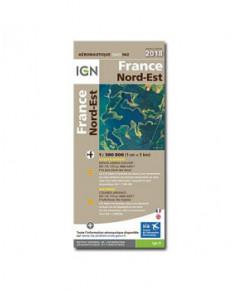 Carte 2018 1/500 000e Nord-Est - version PAPIER