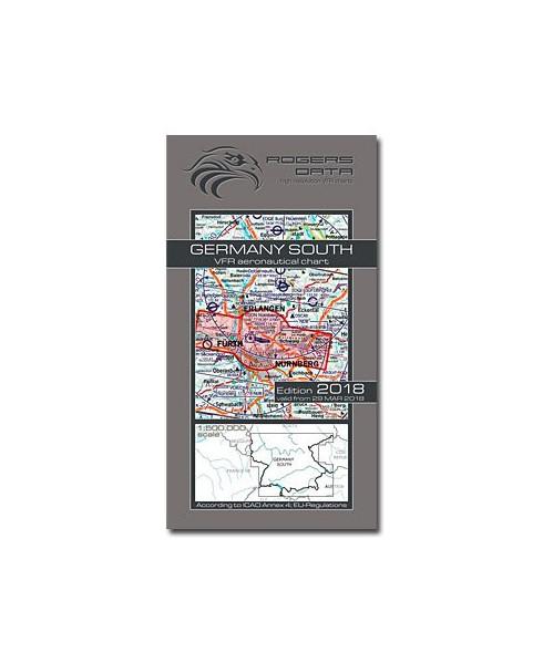 Carte 2018 1/500 000e V.F.R. Allemagne - Sud