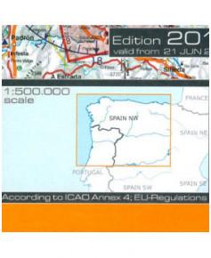 Carte 2018 1/500 000e V.F.R. Espagne - Nord-Ouest