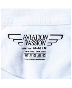 Tee-shirt Attention à la vache ! - Blanc / Aviation Passion - Taille M