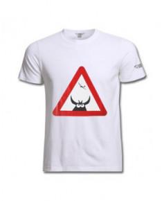 Tee-shirt Attention à la vache ! - Blanc / Aviation Passion - Taille XXL