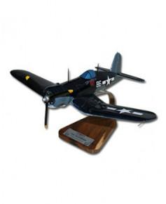 Maquette bois Corsair F4U-A VMF214 Têtes Brûlées