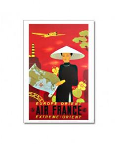Affiche Air France, Europe - Orient - Extrême-Orient
