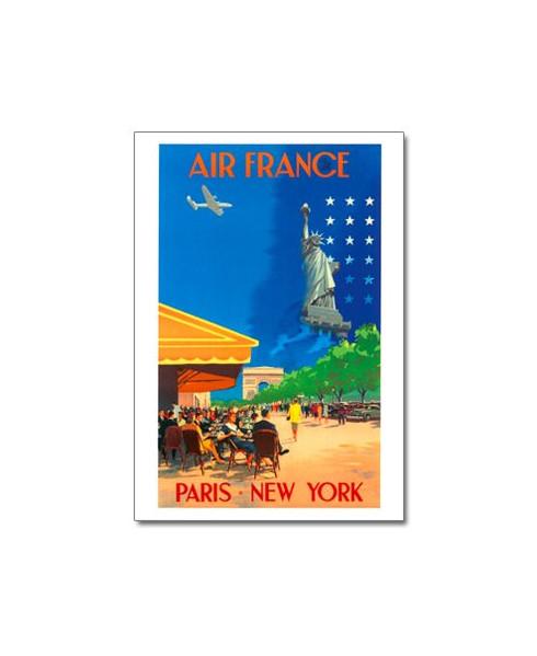Carte postale Air France, Paris - New York