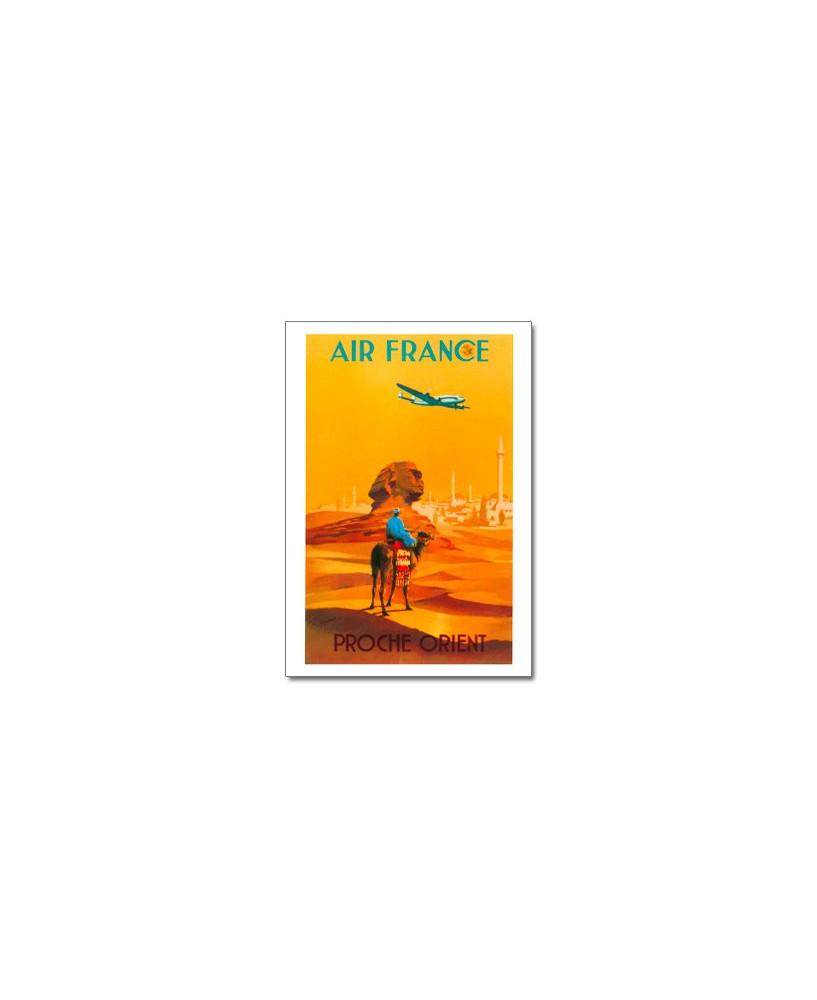 Carte postale Air France, Proche-Orient